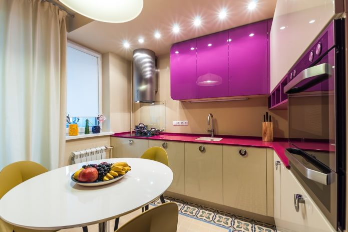 9 Square kitchen lighting design