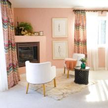 Interiør i ferskentoner: mening, kombinasjon, valg av finish, møbler, gardiner og dekor-0
