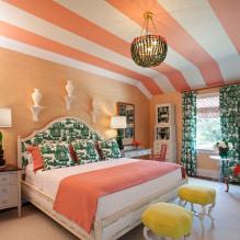 Interiør i ferskenfarger: mening, kombinasjon, valg av finish, møbler, gardiner og dekor-2