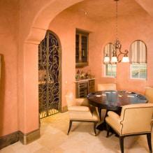 Interiør i ferskenfarger: mening, kombinasjon, valg av finish, møbler, gardiner og dekor-4