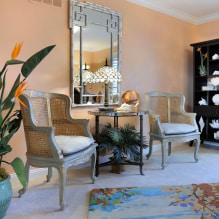 Interiør i ferskenfarger: mening, kombinasjon, valg av finish, møbler, gardiner og dekor-5