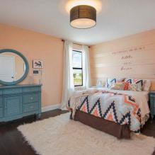Interiør i ferskentoner: mening, kombinasjon, valg av finish, møbler, gardiner og dekor-6